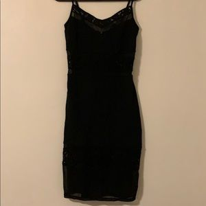 NWT Black French Connection Dress with lace detail